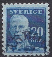 SE062 – SUEDE – SWEDEN – 1920 – CURRENT ISSUE Without WM – Y&T # 129a USED 12 € - Used Stamps