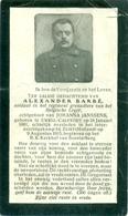 WO1 / WW1 - Doodsprentje Barbé Alexander - Ukkel / Zeist - Gesneuvelde - Décès