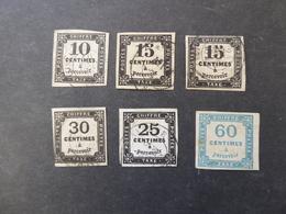 FRANCE  Lot De Timbres Taxes Cote Importante Voir 2 Scans - Postage Due