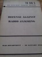 Defense Against Radio Jamming The Sig 5 1944 - Brits Leger