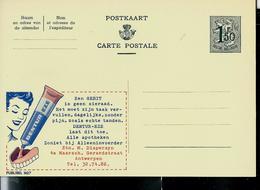 Publibel Neuve N° 1627 ( Pour Votre Dentier: DENTUR - EZE, Colle) - Entiers Postaux