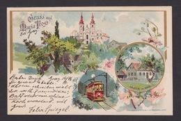 AK / Maria Trost / Häuserl Im Wald / Elektrische Bahn / Gelaufen 1899  ...  ( E 621 ) - Graz