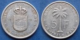 BELGIAN CONGO - 5 Francs 1956 DB KM# 3 Ruanda-Urundi Province - Edelweiss Coins - Congo (Belga) & Ruanda-Urundi