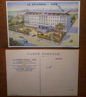Nice Nizza Le Splendid Hotel - NON Viaggiata Anni '10 Francia France - Bar, Alberghi, Ristoranti