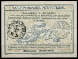 ALLEMAGNE DEUTSCHLAND GERMANY Ro7 Provisional Int.Reply Coupon Reponse IRC IASAntwortschein O STUTTGART 20.02.26 - Allemagne