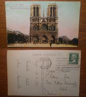 Paris Parigi Notre Dame Et La Parvis - 293 Viaggiata 1929 Anni '20 Francia France - Notre Dame De Paris