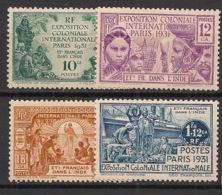 Inde - 1931 - N°Yv. 105 à 108 - Exposition Coloniale - Série Complète - Neuf * / MH VF - Indië (1892-1954)