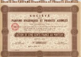 06-PARFUMS HYGIENIQUES Et PRODUITS ASSIMILES. BAR Sur LOUP - Actions & Titres