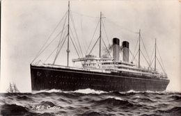 Real Photo Véritable 1914 B&W - R.M.S. Cedric Ocean Liner - Paquebot Ship - Very Good Condition - 2 Scans - Steamers