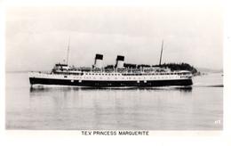 Real Photo Véritable 1952 - B&W - T.E.V. Princess Marguerite Ocean Liner - Paquebot Ship - Very Good Condition - 2 Scans - Steamers