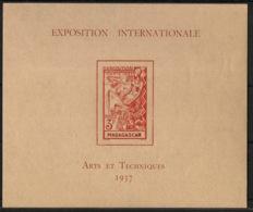 Madagascar - 1937 - Bloc Feuillet BF N°Yv. 1 - Exposition Internationale - Neuf Luxe ** / MNH / Postfrisch - Nuevos