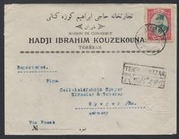 PERSE - PERSIA - IRAN - TEHERAN / 1935 LETTRE RECOMMANDEE POUR L ALLEMAGNE (ref LE163) - Iran