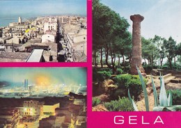 Cartolina Di Gela ( Caltanissetta ) Vedutine - Gela