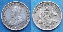 AUSTRALIA - Silver 3 Pence 1921 M KM# 24 George V (1910-1936) - Edelweiss Coins - Non Classificati