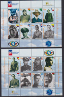 DOMINICAN REPUBLIC, 2018, MNH, AVIATION, AVIATION PIONEERS, PLANES, FLAGS, 2 SHEETLETS - Transport