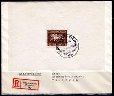 1936 Mi: Block 4 Used/gest. Registered Mail   (ty312) - Duitsland