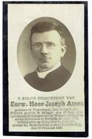 E.H. Joseph AMEZ - Poperinghe 1836 - Kortrijk 1929 - Hulppriester Wulpen - Damme - Onderpastoor St Rochus Kortrijk - Devotion Images