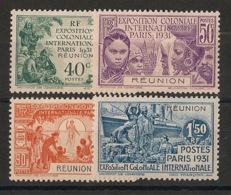 Réunion - 1931 - N°Yv. 119 à 122 - Série Complète Exposition Coloniale - Neuf * / MHVF - Unused Stamps