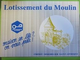 Couverture Brochure Publicitaire - Moulin à Eau - Crédit Immobilier - Lotissement Du Moulin - St Affrique - Pubblicitari