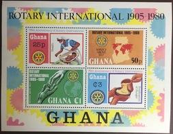 Ghana 1980 Rotary Minisheet MNH - Ghana (1957-...)