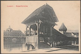 Luzern - Kapellbrücke - Cailler's Milk Chocolate, C.1905-10 - Trade Card - Sonstige