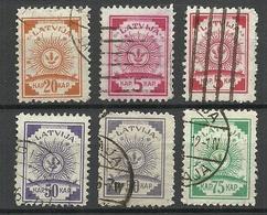 LETTLAND Latvia 1920 Michel 46 - 50 Incl. Michel 46 B (zinnober) O - Lettonia