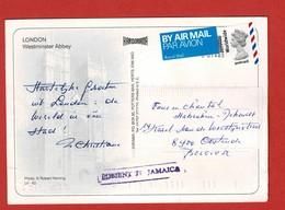 Postcard London - Belgium MISSENT TO JAMAICA - 1952-.... (Elizabeth II)
