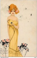 CPA Kirchner Raphaël Art Nouveau Femme Girl Women Circulé En 1905 - Kirchner, Raphael