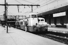 Montpellier. Autorail Assurant L'omnibus 710 Vers Bédarieux, St Pons Et St-Amans-Soult. Cliché Jacques Bazin. 27-06-1953 - Trains