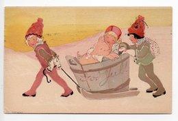 POSTCARD ARTIST SIGNED - AINA STENBERG - SWEDEN - USED 1920  -  CHRISTMAS - GOD JUL - Altre Illustrazioni