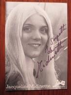 Autographe De Jacqueline MIDINETTE - Tampon De La Parfumerie VENDÔME à MOUTIER 3740 . SUISSE  -  Voir Les 2 Scannes. - Autographs