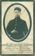 WO1 / WW1 - Doodsprentje Vander Hoeven Charles - Nederhasselt / Kaaskerke - Gesneuvelde - Décès