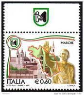 PIA - ITALIA - 2007 : Le Regioni D'Italia : Marche - Sardegna - Trentino Alto Adige - Umbria - (SAS 2954-57) - 6. 1946-.. Republik