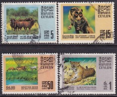 CEYLON 1970 SG #561-64 Compl.set Used Wildlife Conservation - Sri Lanka (Ceylon) (1948-...)