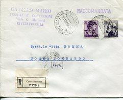 Italia (1965) - Raccomandata Da Civitavecchia - 1946-.. République