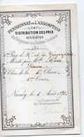 Nancy (Meurthe Et Moselle) Certificatde Prix PENSIONNAT DE L'ASSOMPTION 1887   (PPP21697A ) - Diploma & School Reports