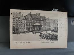 Souvenir De Mons  Le 2eme Chasseur à Cheval Obl En 1900 - Mons