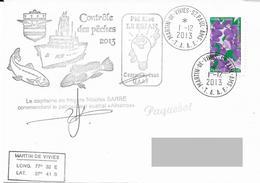 TAAF - Patrouilleur Albatros - Ile St Paul. Base Martin De Vivies. Contrôle Des Pêches 2013. - Brieven En Documenten
