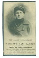 WO1 / WW1 - Doodsprentje Van Habost Renatus - Leupegem / Torhout  - Gesneuvelde - Décès