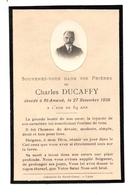 Souvenir Décès Saint Amand 18 Famille Ducaffy - Old Paper