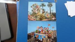 """CARNAVAL DE NICE - """" Le Grand échiquier """" & Bataille De Fleurs  ( Lot Des 2 Cartes) - Carnaval"""