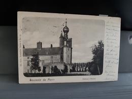 Souvenir De Mons  Le Château D'Havre  Obl En 1900 - Mons