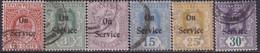 CEYLON 1903-04 SG #O22-O27 Official Compl.set Used CV £25 - Sri Lanka (Ceylon) (1948-...)