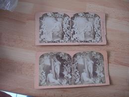 Lot De 3 Femme Nue Nu Feùminin  Art Photo Stereo Steroscopique - Stereoscoop