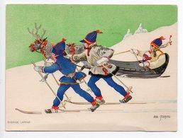 POSTCARD ARTIST SIGNED - AINA STENBERG - SWEDEN - USED 1934 - SAMI - REINDEER SLEIGH - Altre Illustrazioni