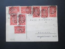 Infla 1923 Queroffset Nr. 257 MeF Mit 8 Marken!! Essen Nach München Gesendet - Deutschland
