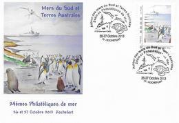 Patrouilleur Austral ALBATROS - Mers Du Sud Et TAAF. 24èmes Philatéliques De Mer. Lot Enveloppe + CP - Scheepspost