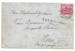 Austria Censor Mail Zensur WW1 (2 Scans) Villach  St Ruprecht -Wien 1915 - Other