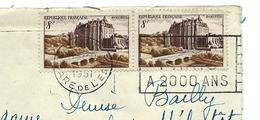 N°873 CHATEAUDUN En Paire Sur Devant De LETTRE 1951 - Affranchissement à 16 F - Francia