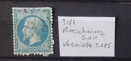 02 - 20 // France N° 22 Oblitération GC 3181 - Roeschwoog  - Indice 15 - Storia Postale (Francobolli Sciolti)